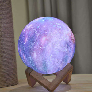 3D Printed Multicolor Moon Lamp