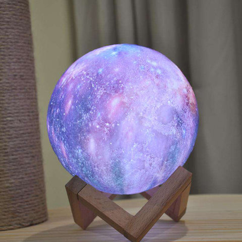 Image of 3D Printed Multicolor Moon Lamp - Prography Gear