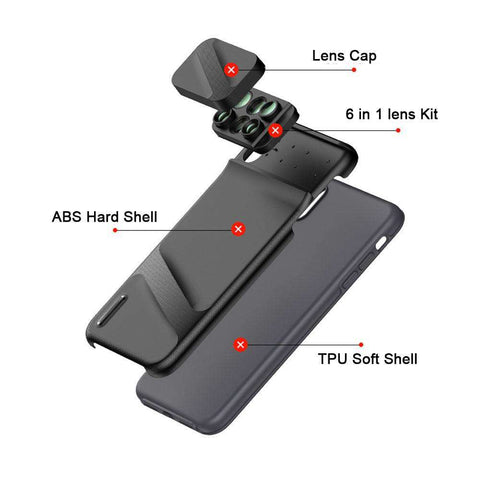 Image of 6 IN 1 integrated iPhone Lens Case - Prography Gear