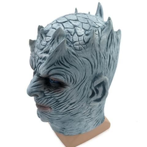 Image of THE NIGHT KING WHITE WALKER GAME OF THRONES LATEX MASK - Royalty Trends
