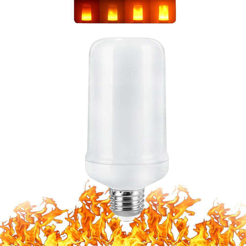 Image of LED Flame Burning Glowing Light Bulb