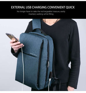 DEELFEL Smart Anti Theft Backpack