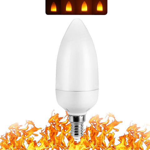 LED Flame Burning Glowing Light Bulb