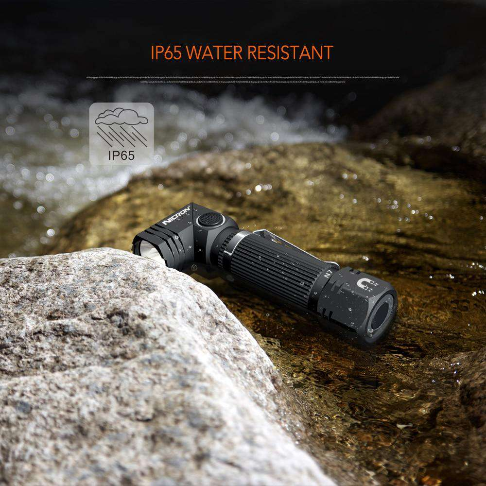 Magnetic Tactical Flashlight With 90 Degree Rotary Clip