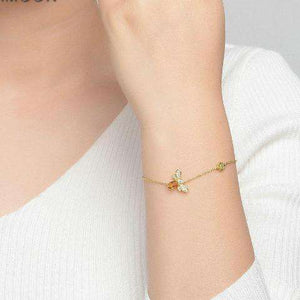 Gold Plated Sterling Silver Bee Bracelet