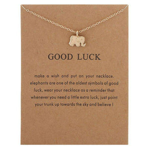 Elephant Necklace With Card - Royalty Trends