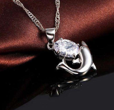 Cute Sterling Silver Dolphin Jewelry Set - Royalty Trends
