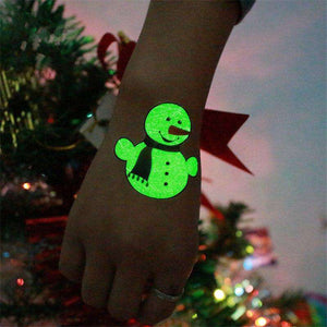 Luminous Temporary Christmas Tattoo Stickers