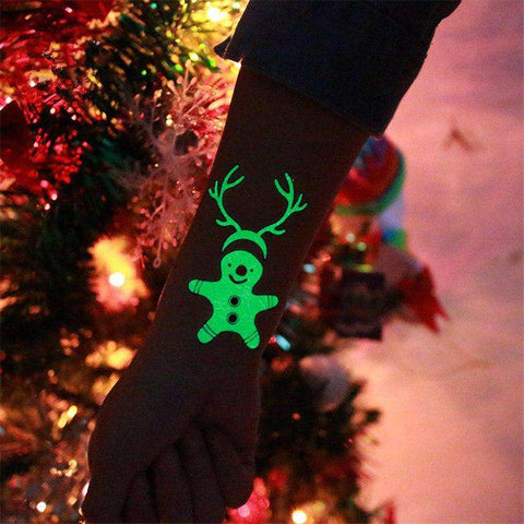 Image of Luminous Temporary Christmas Tattoo Stickers - Prography Gear