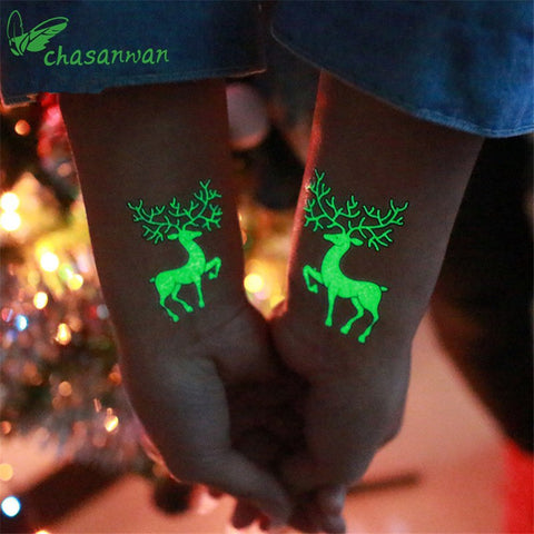 Luminous Temporary Christmas Tattoo Stickers - Prography Gear