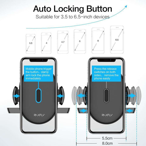 AUTOMATICALLY LOCKING WINDSHIELD PHONE HOLDER - Prography Gear