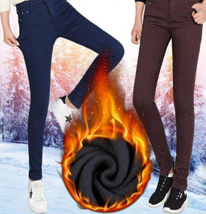 Innovative Warm Stretch Winter Jeans - Thick Velvet