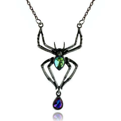Crystal Spider Necklace - Royalty Trends