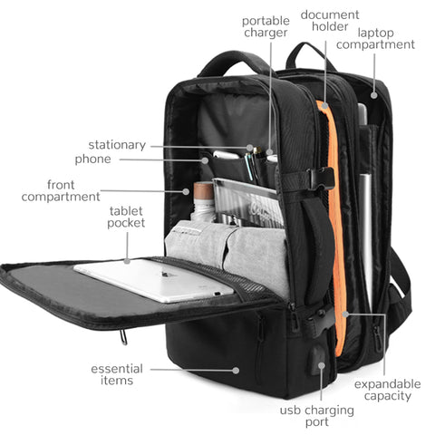 Image of Expandable Business Travel Backpack - Prography Gear