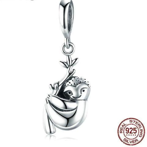Image of Cute Sterling Silver Sloth Charm - Prography Gear