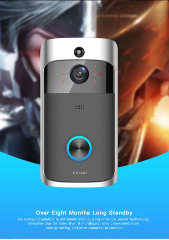 Image of Wireless HD 720P Video Doorbell - Infrared Night Vision Motion Detection - Prography Gear