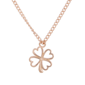 Golden Plated Clover Lucky Charm Necklace - Royalty Trends