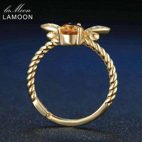 Image of Gold Plated Sterling Silver Bee Ring - Prography Gear
