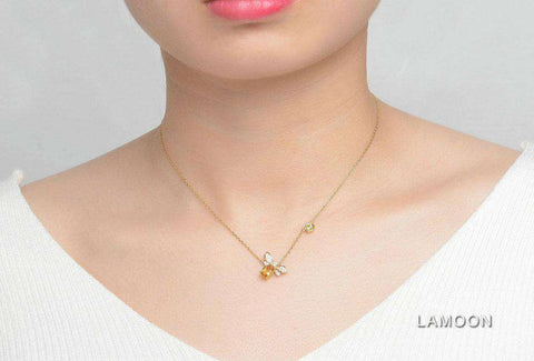 Gold Plated Sterling Silver Bee Necklace - Prography Gear
