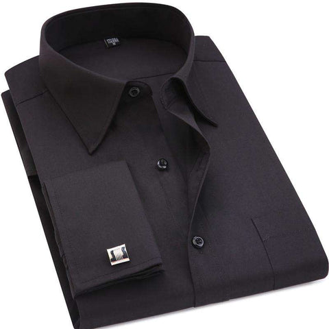 Classic With French Cufflinks Men's Business Shirt - Royalty Trends