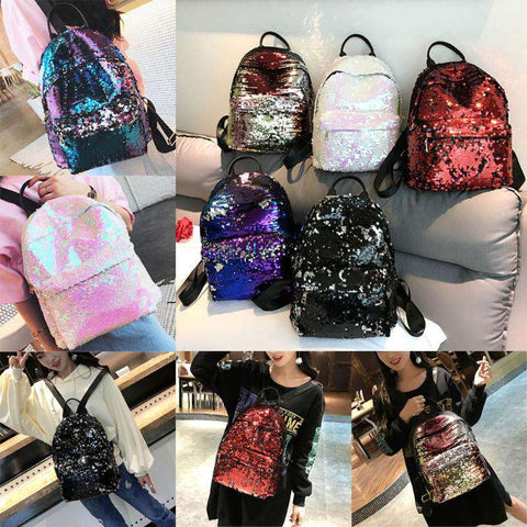 Image of Girls Bling Glitter Shoulder School Bag - Prography Gear