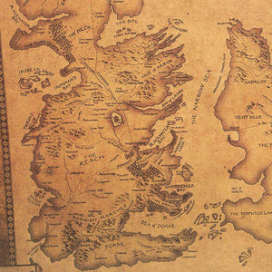 Game of Thrones Retro Kraft Paper Westeros Map/Poster 42X36cm