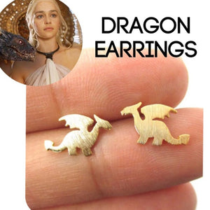 Game Of Thrones Dragon Earrings - Royalty Trends