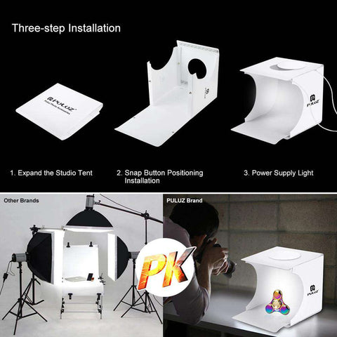 Mini Folding Lightbox - 6 FREE Backdrops - Prography Gear
