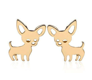 Chihuahua Earrings And Keychain