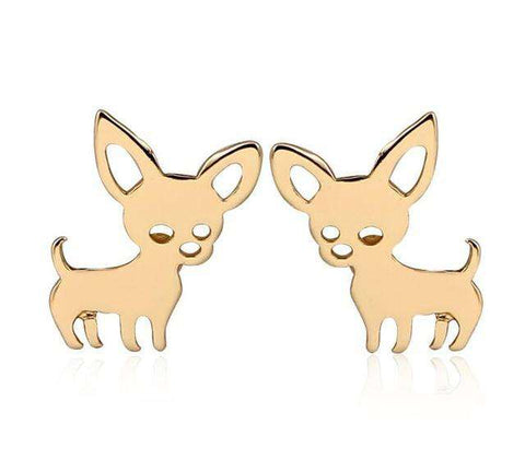 Image of Chihuahua Earrings And Keychain - Prography Gear