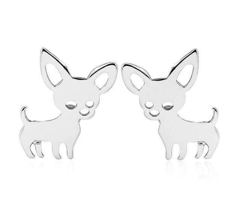 Chihuahua Earrings And Keychain - Royalty Trends
