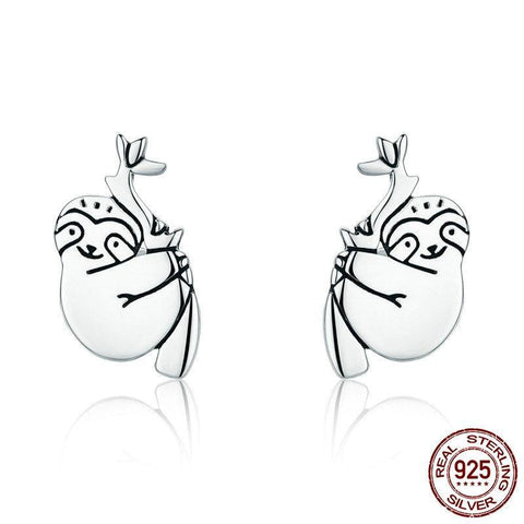 925 Sterling Silver Lovely Sloth Earrings - Royalty Trends