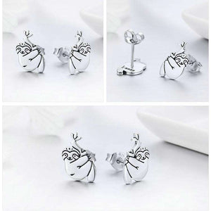 925 Sterling Silver Lovely Sloth Earrings