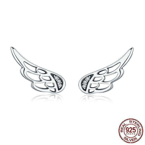 Angel Wings Earrings 925 Sterling Silver - Royalty Trends