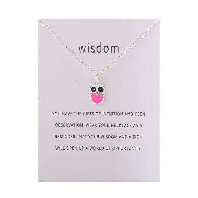 Owl Necklace With Card - Prography Gear