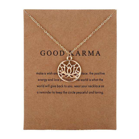 GOOD KARMA LOTUS NECKLACE - Royalty Trends