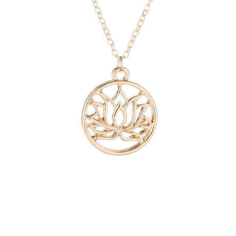 Image of GOOD KARMA LOTUS NECKLACE - Prography Gear