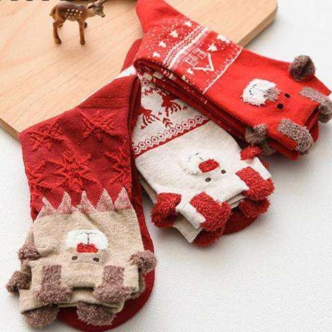 Cute Winter Christmas Socks - Prography Gear