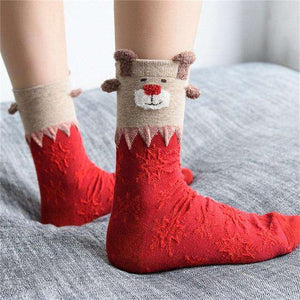 Cute Winter Christmas Socks
