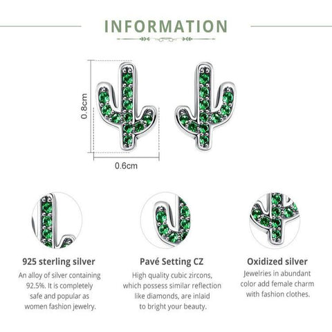 Image of Sterling Silver Cactus Earrings - Prography Gear