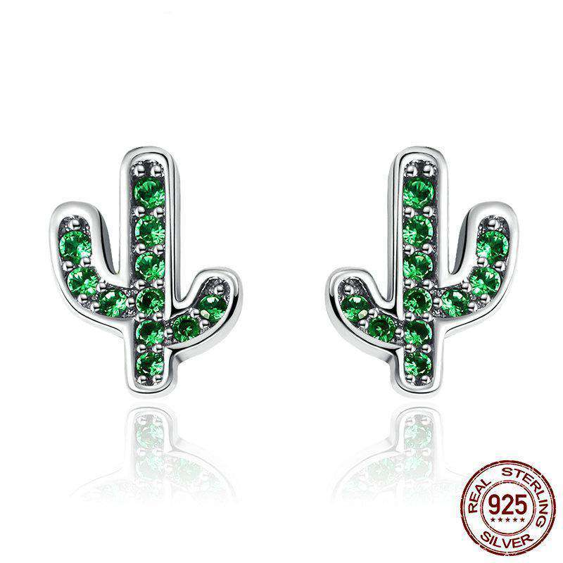 Sterling Silver Cactus Earrings - Prography Gear
