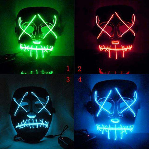 Image of Halloween LED Light Mask - Royalty Trends