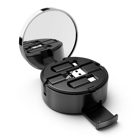 3 in 1 USB Retractable Cable With Mirror & Stand - Royalty Trends