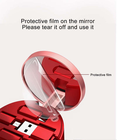 3 in 1 USB Retractable Cable With Mirror & Stand - Prography Gear