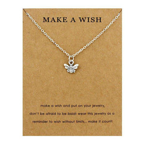 Cute Bee Necklaces With Card - Royalty Trends