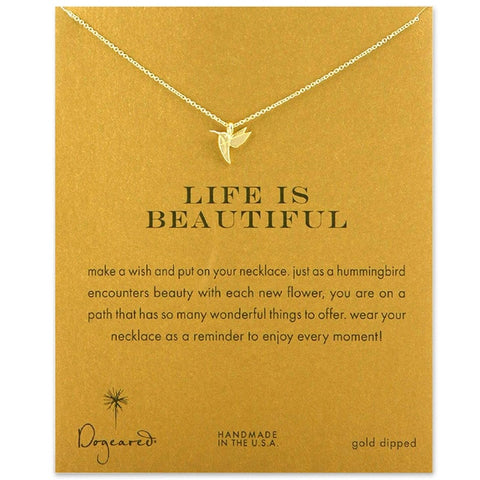 Hummingbird Necklace With Gift Card - Royalty Trends