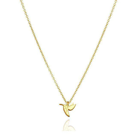 Cute Charming Elegant Hummingbird Necklace With Gift Card High-Quality Silver Gold Present