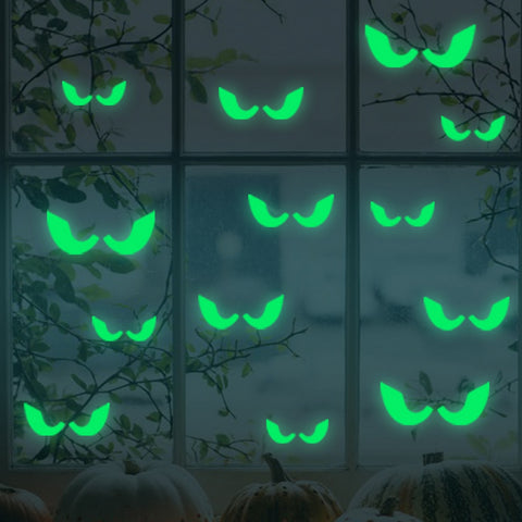 Image of 18Pcs/set  Horrific Glow In The Dark Eyes Wall Stickers - Royalty Trends