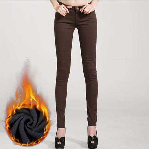 Image of Innovative Warm Stretch Winter Jeans - Thick Velvet - Prography Gear