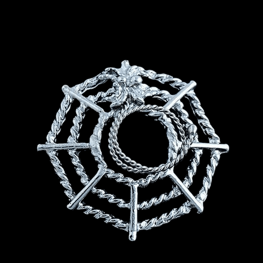 Spider Web Clip on Nipple Clamps